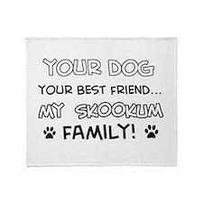 My skookum Cat is Family Throw Blanket