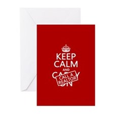 Keep Calm and Call A Realtor Greeting Cards (Pk of