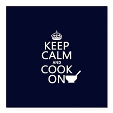 "Keep Calm and Cook On Square Car Magnet 3"" x 3"""