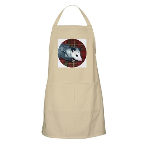 Possum on Plaid BBQ Apron