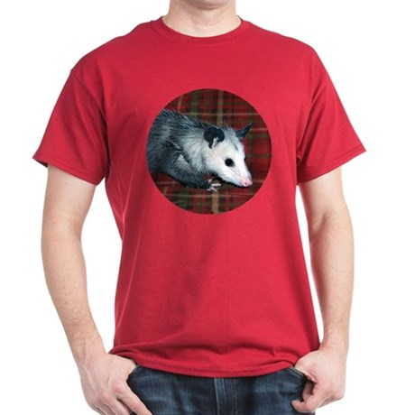 Possum on Plaid Dark T-Shirt