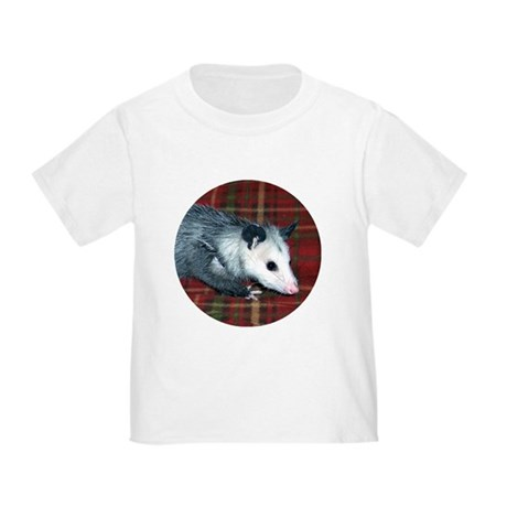 Possum on Plaid Toddler T-Shirt