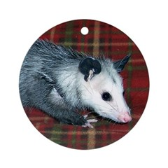 Possum on Plaid Ornament (Round)