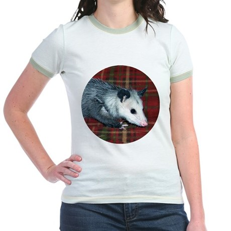 Possum on Plaid Jr. Ringer T-Shirt