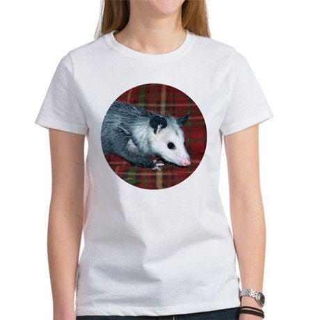 Possum on Plaid Women's T-Shirt