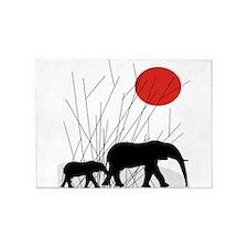 Elephants 5'x7'Area Rug