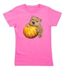 Halloween Pumpkin Bear Girl's Tee