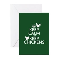 Keep Calm and Keep Chickens Greeting Cards (Pk of