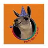 Llama Birthday Tile Coaster