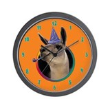 Llama Birthday Wall Clock