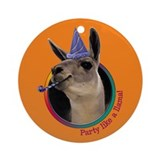 Llama Birthday Ornament (Round)