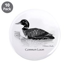 "Common Loon 3.5"" Button (10 pack)"
