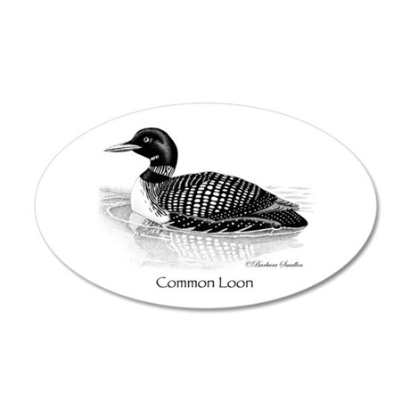 Common Loon 35x21 Oval Wall Decal