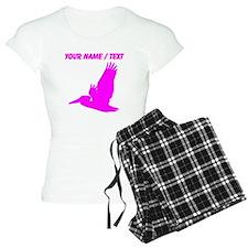 Custom Pink Pelican Silhouette pajamas