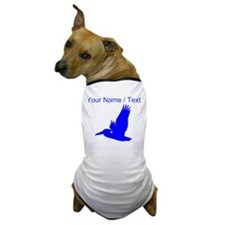 Custom Blue Pelican Silhouette Dog T-Shirt