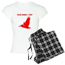Custom Red Pelican Silhouette pajamas