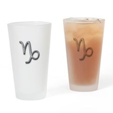 Capricorn Zodiac Drinking Glass