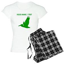 Custom Green Pelican Silhouette pajamas