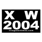 X W 2004 Rectangle Sticker