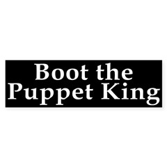 Boot the Puppet King Bumper Sticker