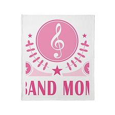 Band Mom vintage Throw Blanket
