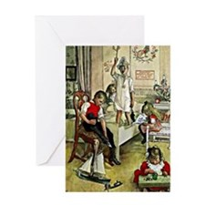 Christmas Morning, painting by Carl  Greeting Card