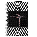 Stretching at Barre B&W Stripe Journal