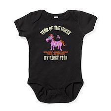 Born Year of The Horse Baby 2014 Baby Bodysuit
