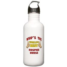 World's Best Hospice Nurse (Thumbs Up) Water Bottle