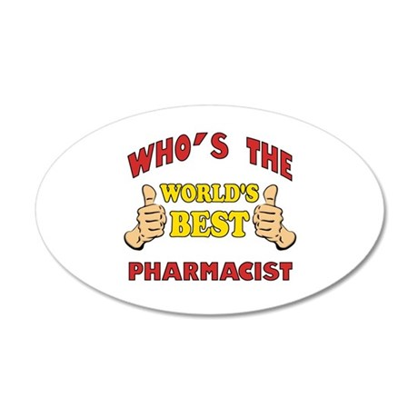 World's Best Pharmacist (Thumbs Up) 20x12 Oval Wal