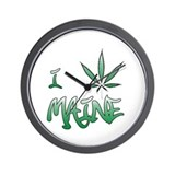 I (weed) Maine Wall Clock