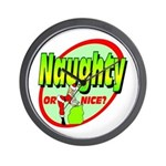 Naughty Or Nice Wall Clock