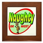 Naughty Or Nice Framed Tile