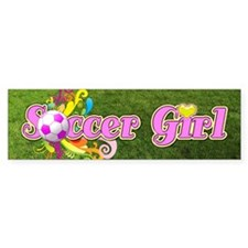 Soccer Girl Bumper Sticker