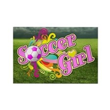 Soccer Girl Rectangle Magnet