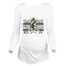 pregzilla-lights.png Long Sleeve Maternity T-Shirt