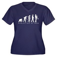 evolution of man bass clarinet player Plus Size T-