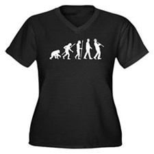 evolution of man clarinet player Plus Size T-Shirt