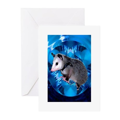 Baby Possum Kaleidoscope Greeting Cards (Package o