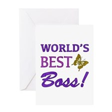 World's Best Boss (Butterfly) Greeting Card