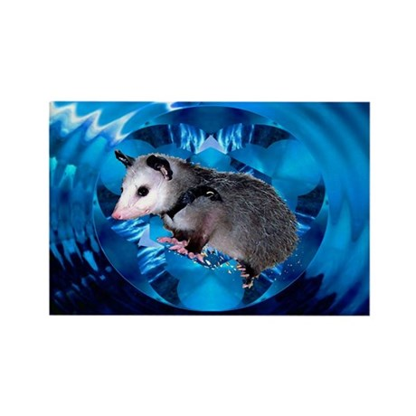 Baby Possum Kaleidoscope Rectangle Magnet (10 pack