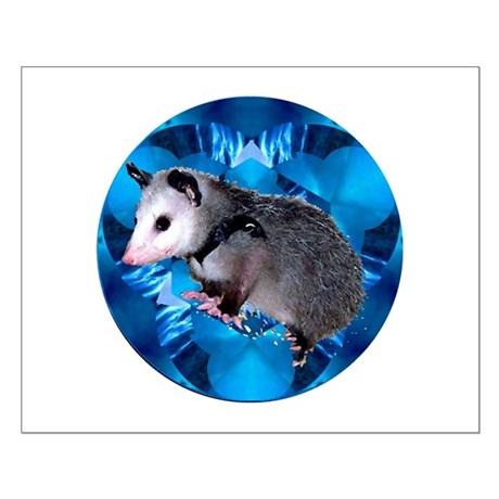 Baby Possum Kaleidoscope Small Poster