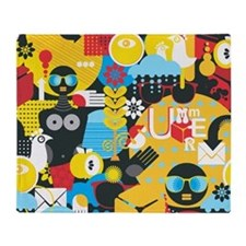 Funky Summer Women Throw Blanket