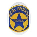 New Orleans PD Tactical Oval Ornament