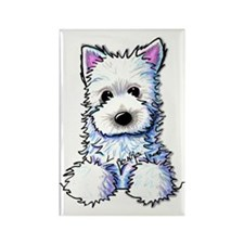 Westie Pocket PUPPY Rectangle Magnet