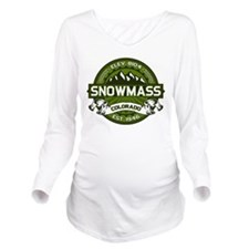 Snowmass Olive Long Sleeve Maternity T-Shirt