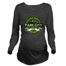 Park City Olive Long Sleeve Maternity T-Shirt