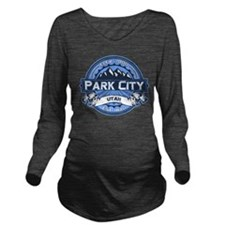 Park City Blue Long Sleeve Maternity T-Shirt