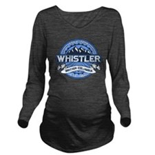 Whistler Blue Long Sleeve Maternity T-Shirt