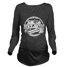 Nelson Old Circle White Long Sleeve Maternity T-Sh